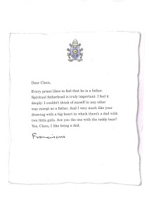 letter from clara to pope francis letter from pope francis to clara