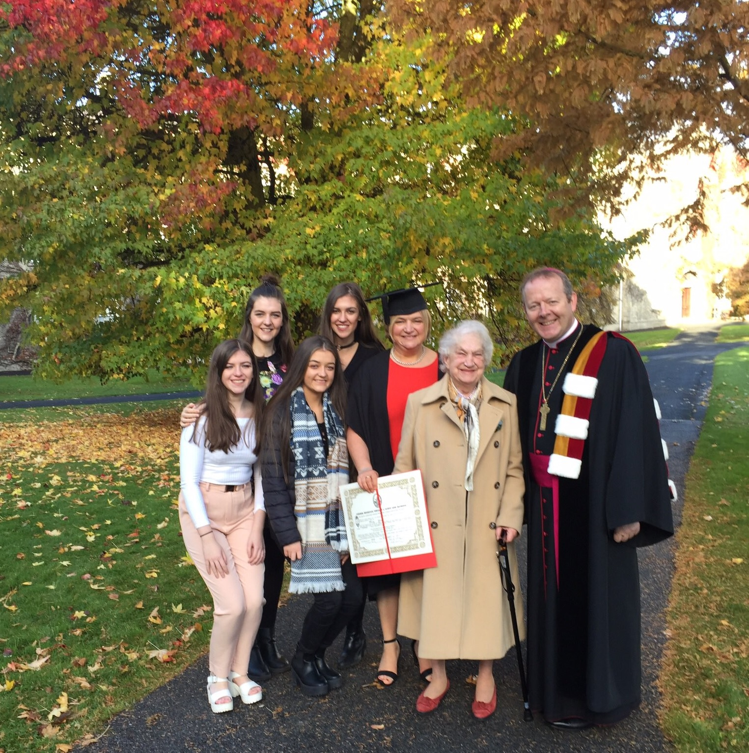 Archbishop Eamon Martin with graduate Mary and family at Saint Patrick's College Maynooth