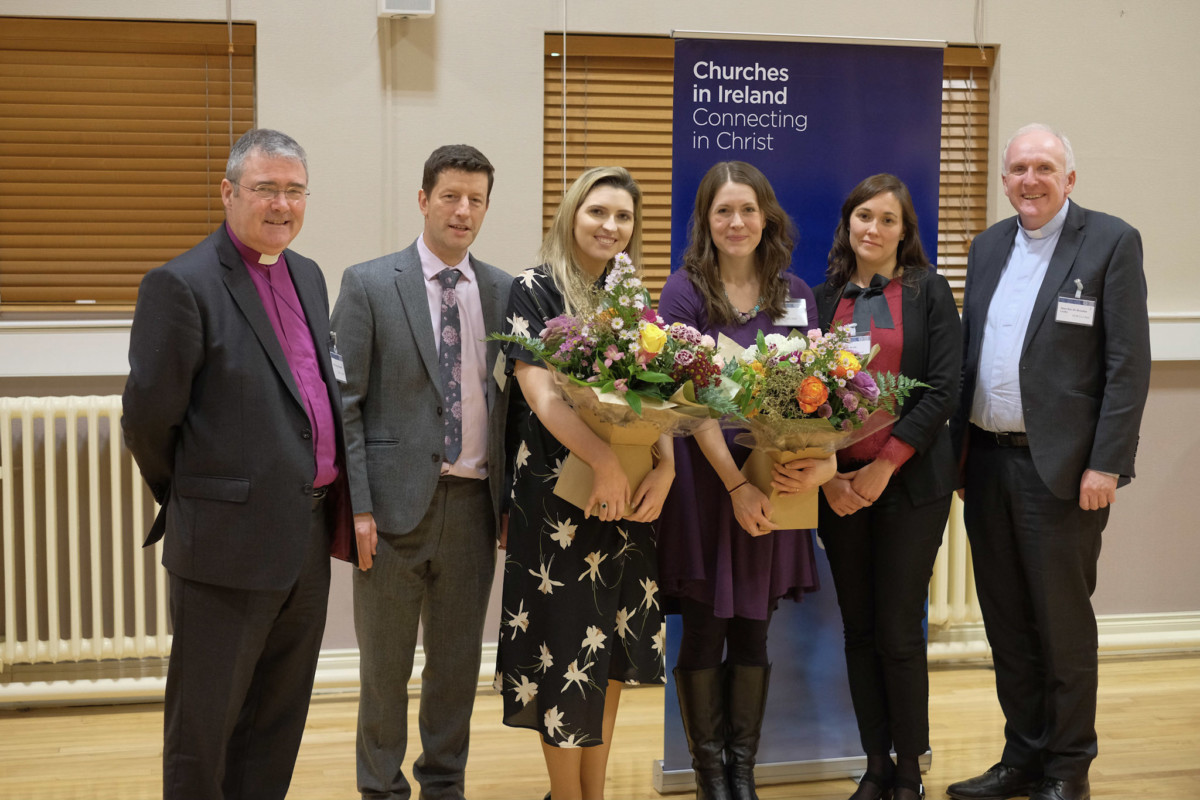 Bishop John McDowell, Dr Damian Jackson, Dr Alison Meagher, Mrs Karen Kelly, Dr Nicola Brady, Bishop Brendan Leahy